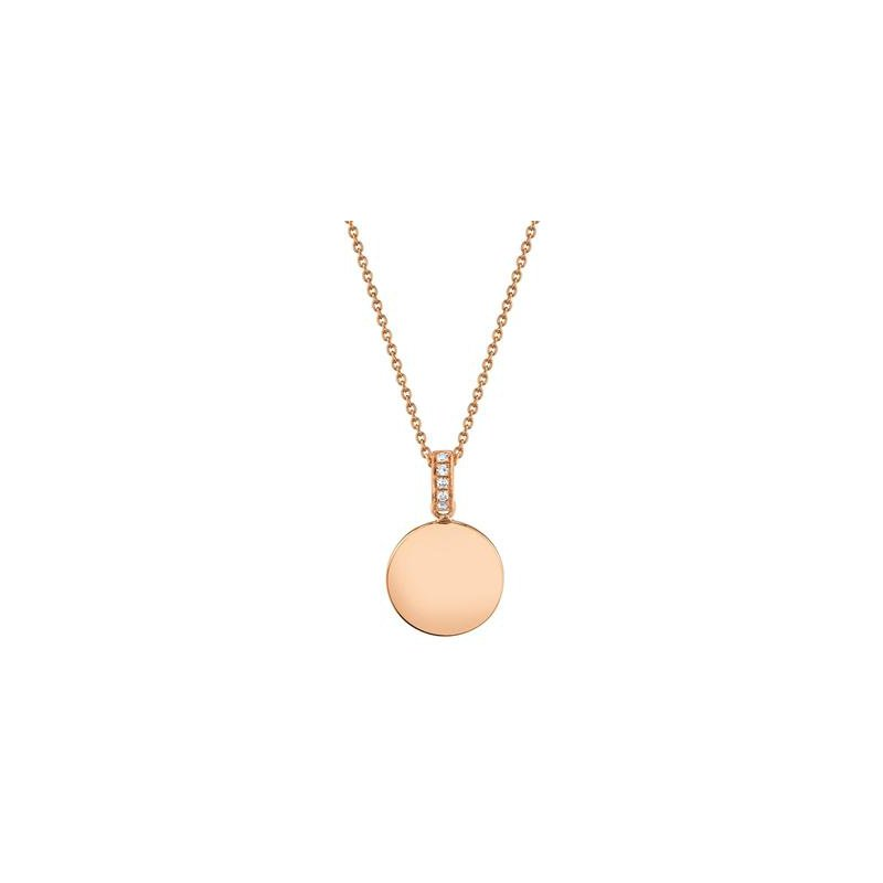 Kelley Collection  Diamond Disc Pendant