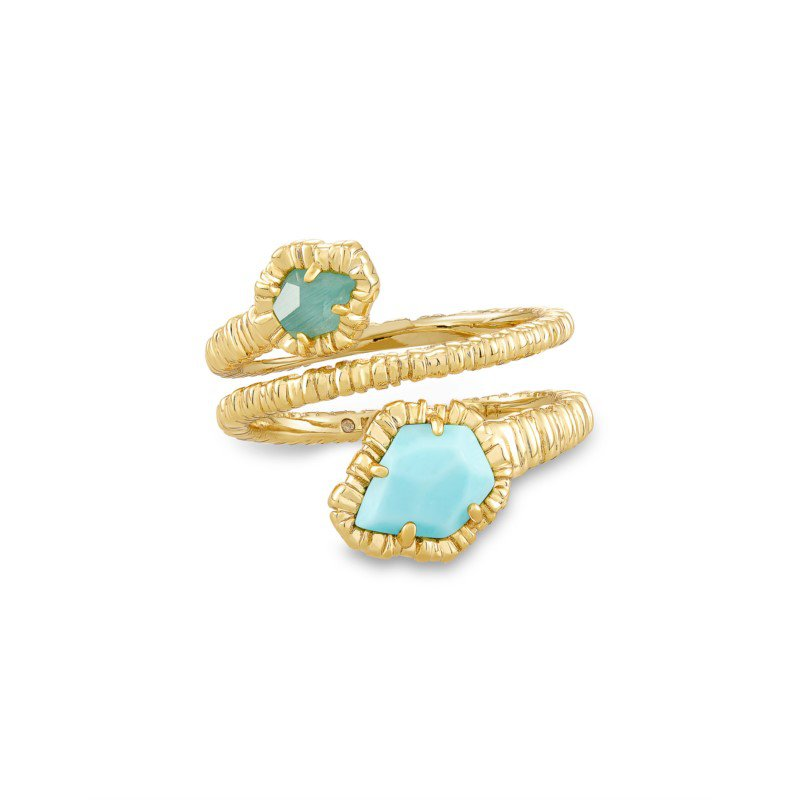Kendra Scott Tessa Wrap in Light Blue Magnesite