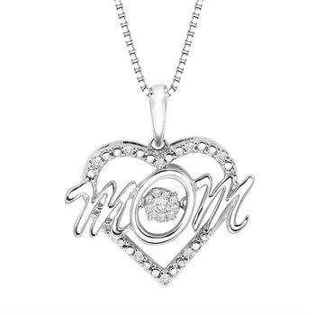MOM Shimmering Diamond Pendant