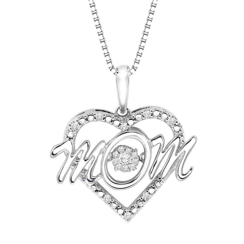 Kelley Collection  MOM Shimmering Diamond Pendant