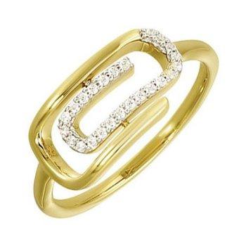 Diamond Paperclip Ring