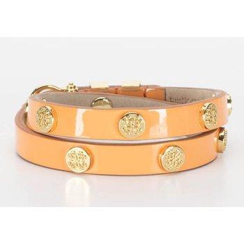 Macy Patent Orange Double Wrap in Gold