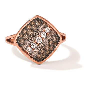 14K Strawberry Gold®  Chocolate Ombré Diamond® Ring