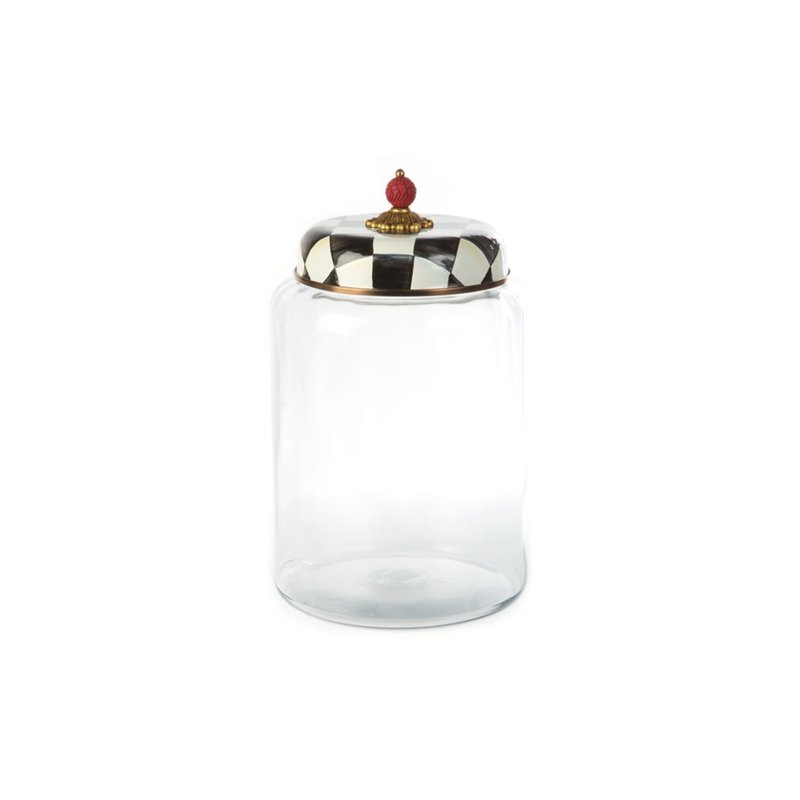 MacKenzie-Childs Courtly Check Storage Canister-Biggest
