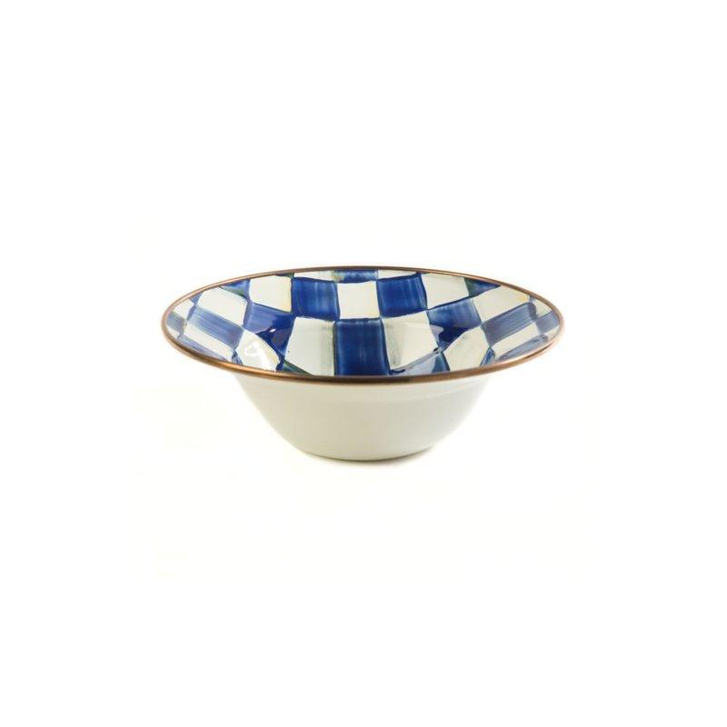 MacKenzie-Childs Royal Check Enamel Breakfast Bowl