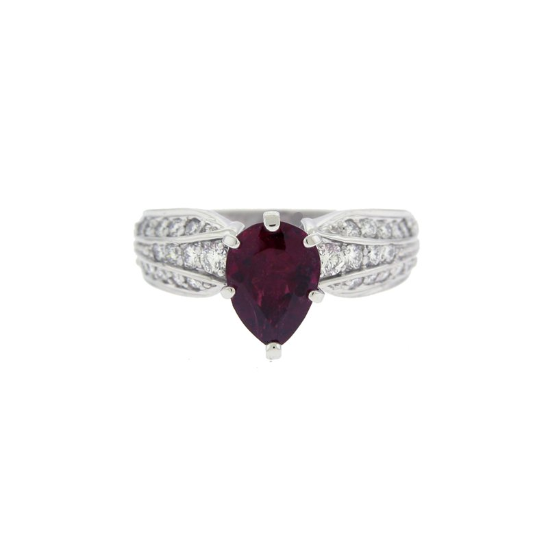 Kelley Collection  Rubelilite Tourmaline & Diamond Ring