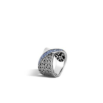 Twisted Pavé Band Ring