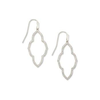 Abbie Small Open Frame Earring in Silver