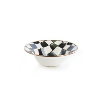 Courtly Check Enamel Breakfast Bowl
