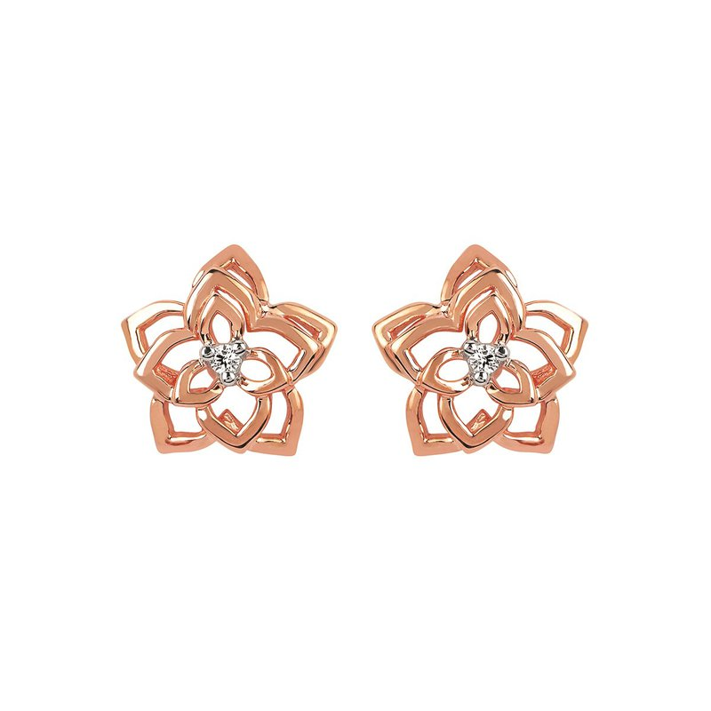 Kelley Collection  Diamond Flower Earrings