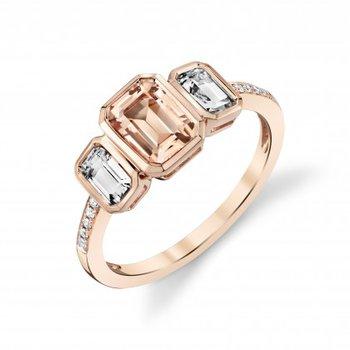 Morganite & Topaz Ring