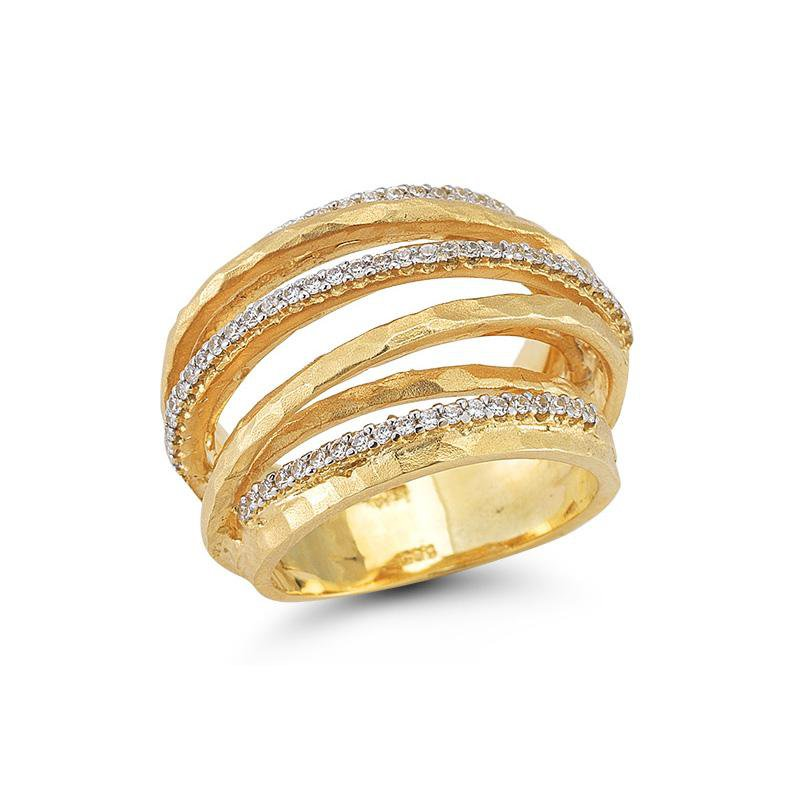 """Kelley Collection  Matte-Finished Diamond """"Gallery"""" Ring"""