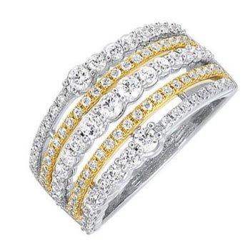 5-Row Diamond Ring