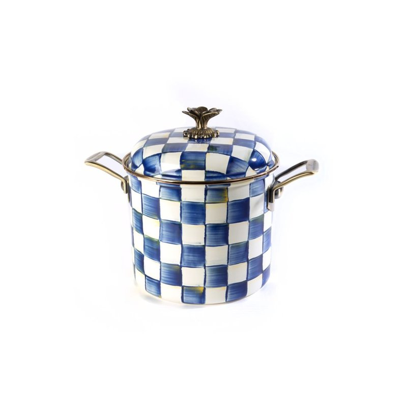 MacKenzie-Childs Royal Check 7 Qt. Stockpot
