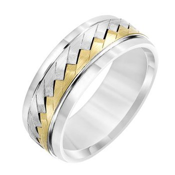 Two-Tone 8mm Band