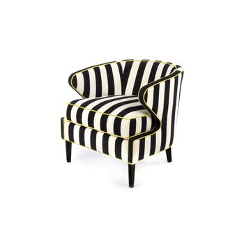 Marquee Accent Chair - Chenille Stripe