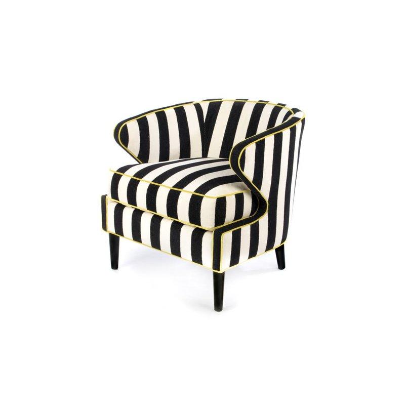 MacKenzie-Childs Marquee Accent Chair - Chenille Stripe