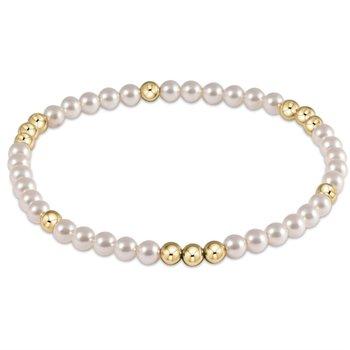 Worthy Pattern 4 mm Bead Bracelet - Pearl