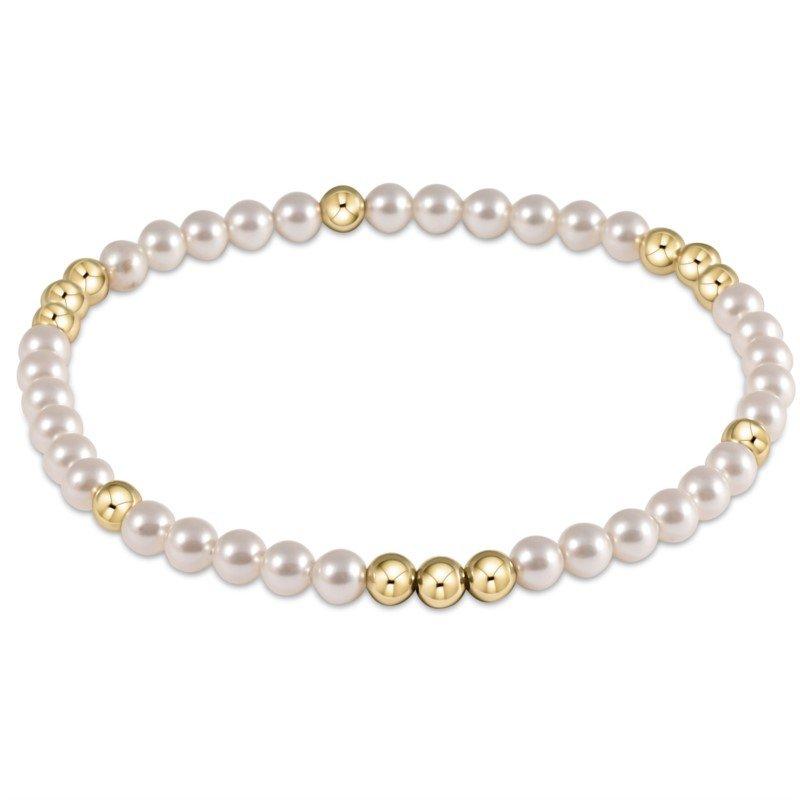 ENewton Design Worthy Pattern 4 mm Bead Bracelet - Pearl