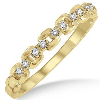 Diamond Box Chain Link Band