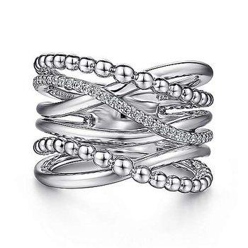 Sapphire Criss-Cross Ring