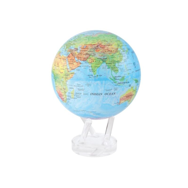 "Mova Globes 8.5"" Blue Relief Map Globe"