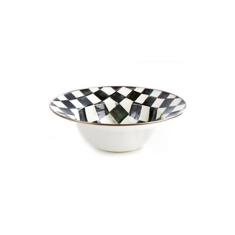 MacKenzie-Childs Courtly Check Serving Bowl