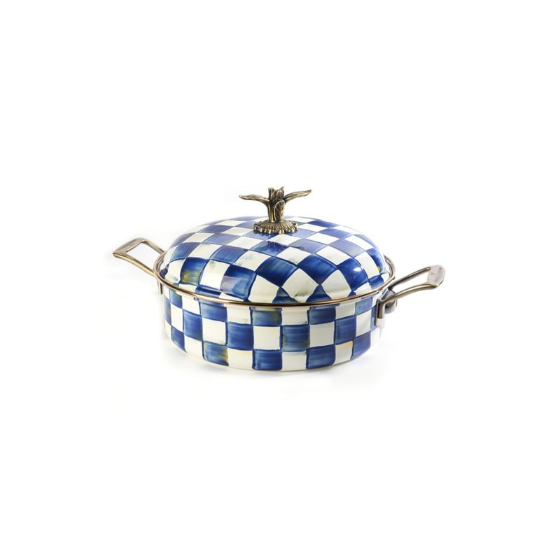 MacKenzie-Childs Royal Check 5 Qt. Casserole