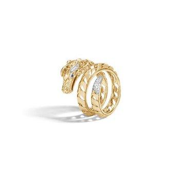 Naga Ring with Diamonds