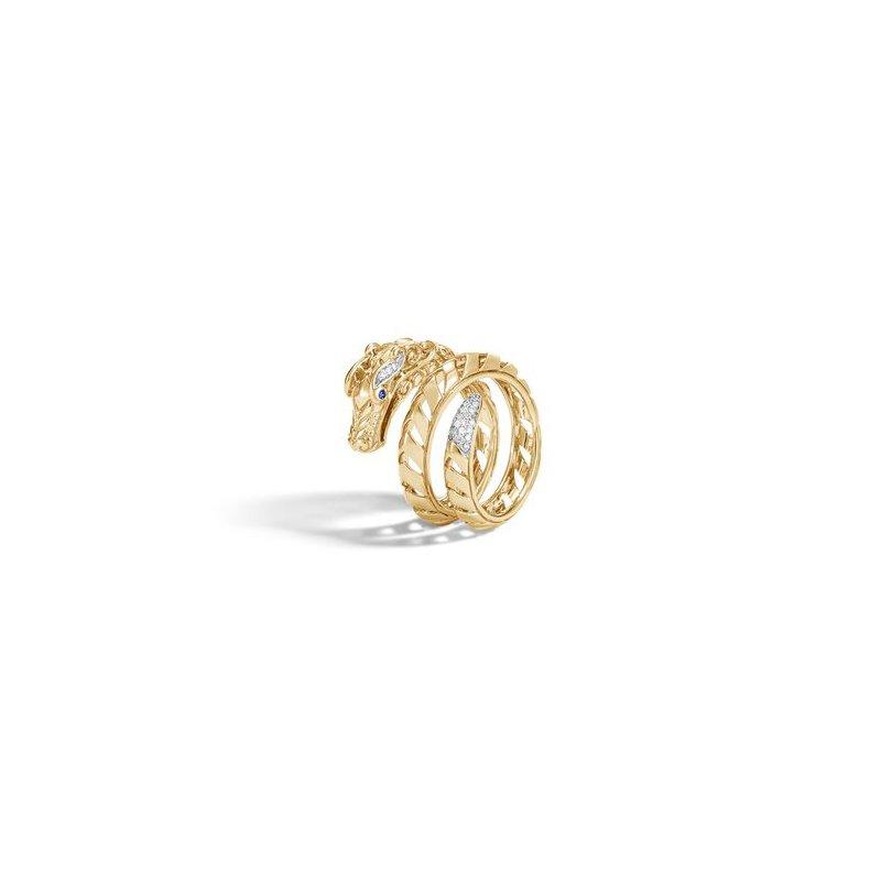 John Hardy Naga Ring with Diamonds