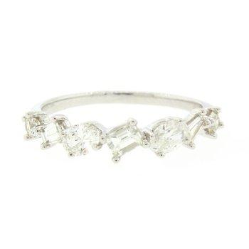 Baguette & Oval Diamond Ring