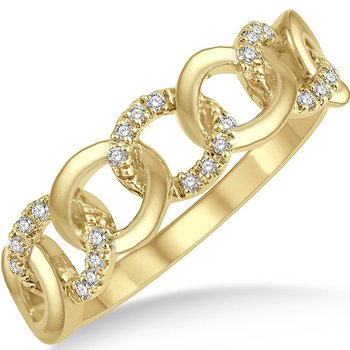 Diamond Curb & Cuban Link Ring