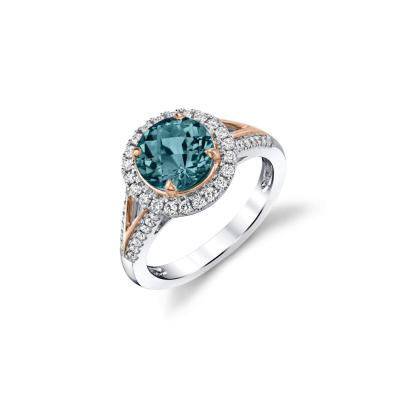 Kelley Collection  London Blue Topaz & Diamond Ring