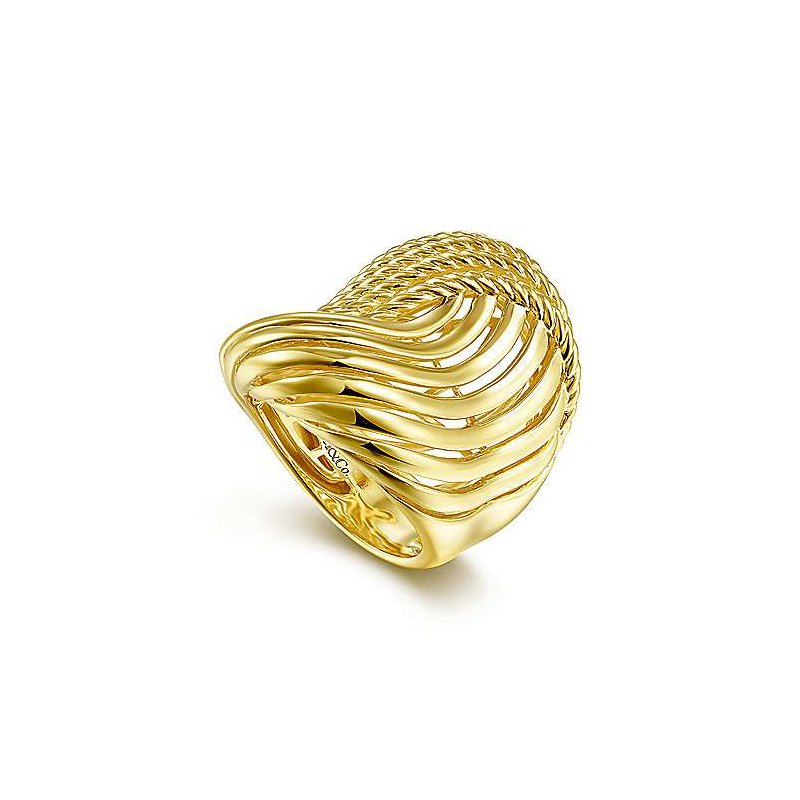 Gabriel NY Fine Jewelry Gold Abstract Ring