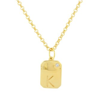Dog Tag 'K' Initial ~7C Rolo