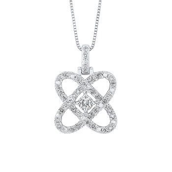 Diamond Love Crossing Pendant