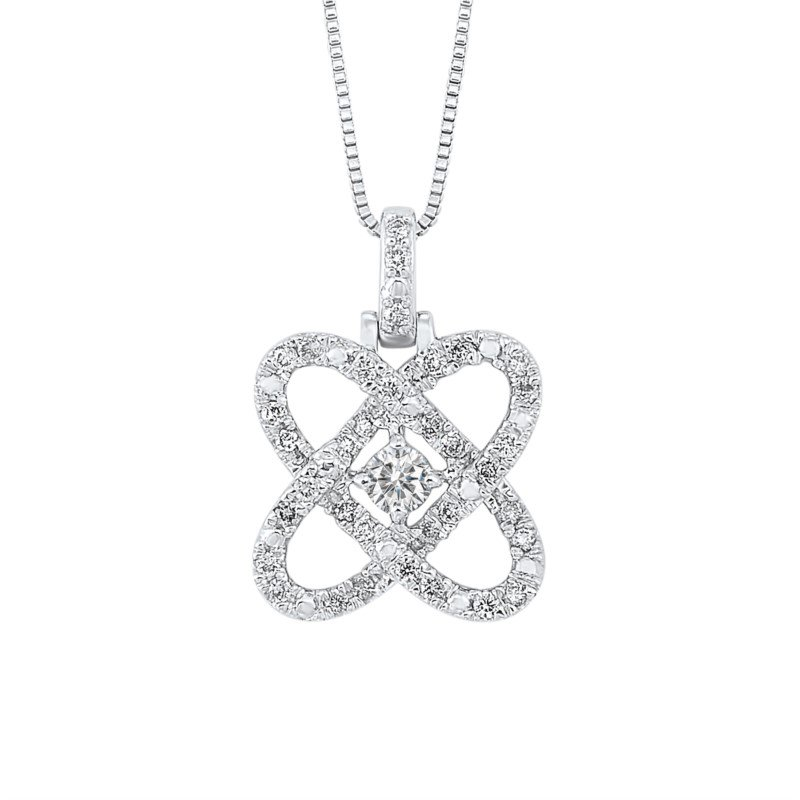 Kelley Collection  Diamond Love Crossing Pendant