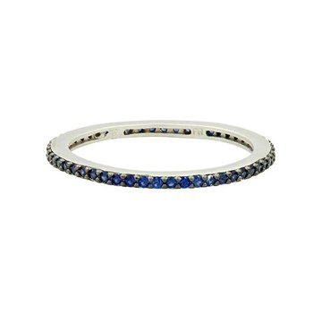 All Pave Blue Stackable Ring