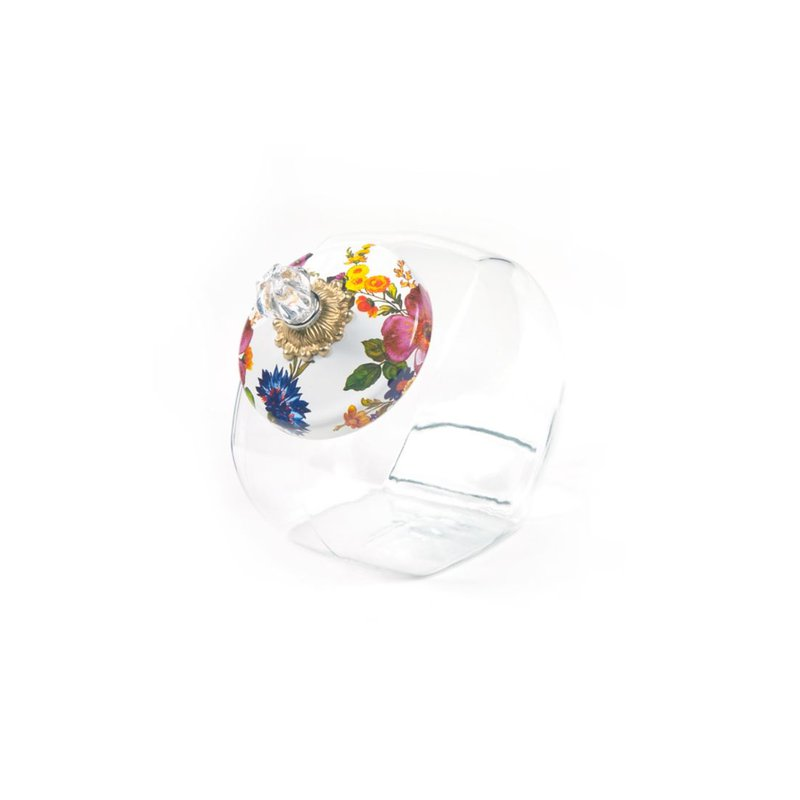 MacKenzie-Childs Cookie Jar with Flower Market Enamel Lid