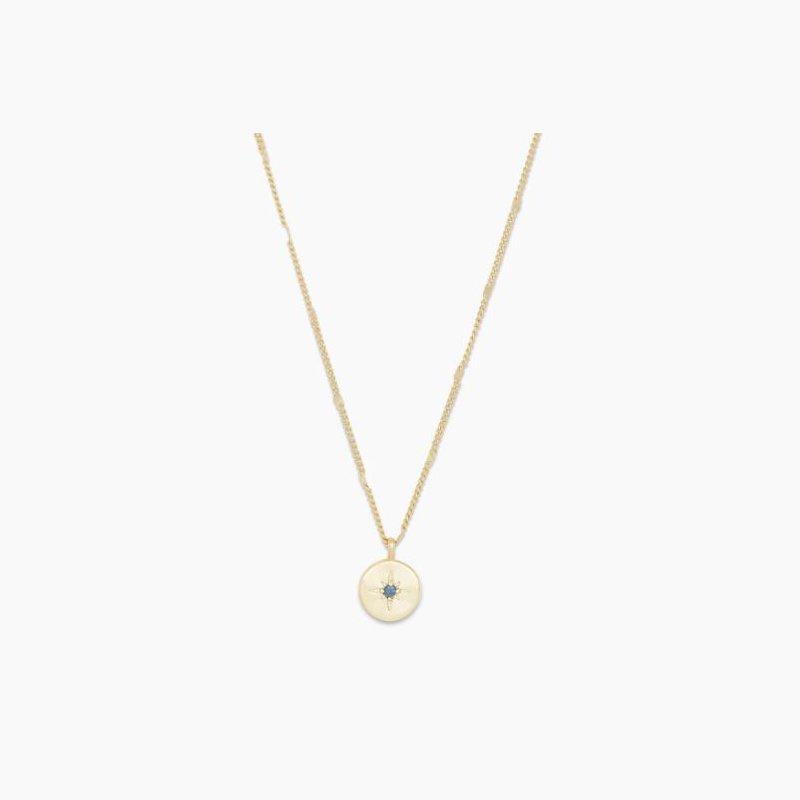 Gorjana Power Birthstone Coin Necklace (September)