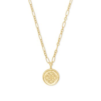 Dira Coin Pendant In Gold