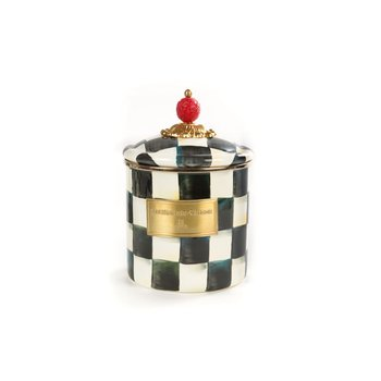 Courtly Check Enamel Canister - Small