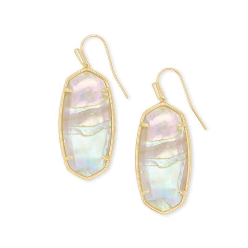 Kendra Scott Faceted Elle in Iridescent Abalone