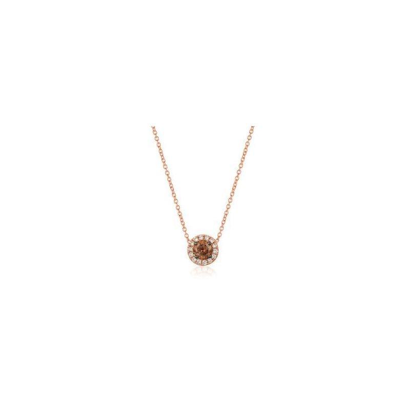 Le Vian 14K Strawberry Gold® Chocolate & Vanilla Diamonds® Pendant