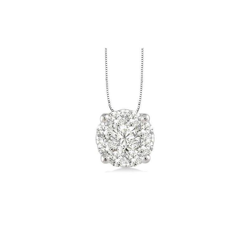 Kelley Collection  Diamond Cluster Pendant