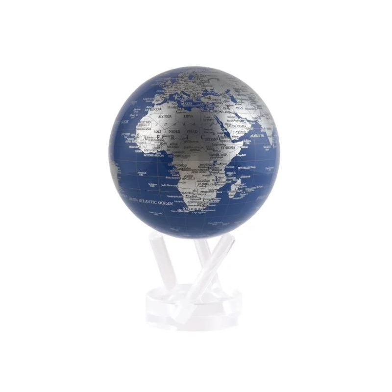 """Mova Globes 4.5"""" Blue and Silver"""
