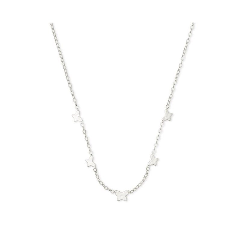Kendra Scott Lillia Butterfly Necklace in Silver