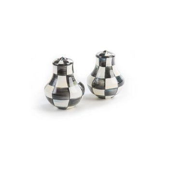 Courtley Check Enamel Salt & Pepper Shakers