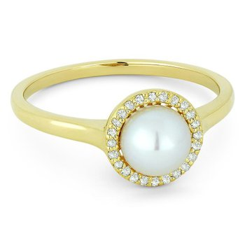 Pearl & Diamond Ring