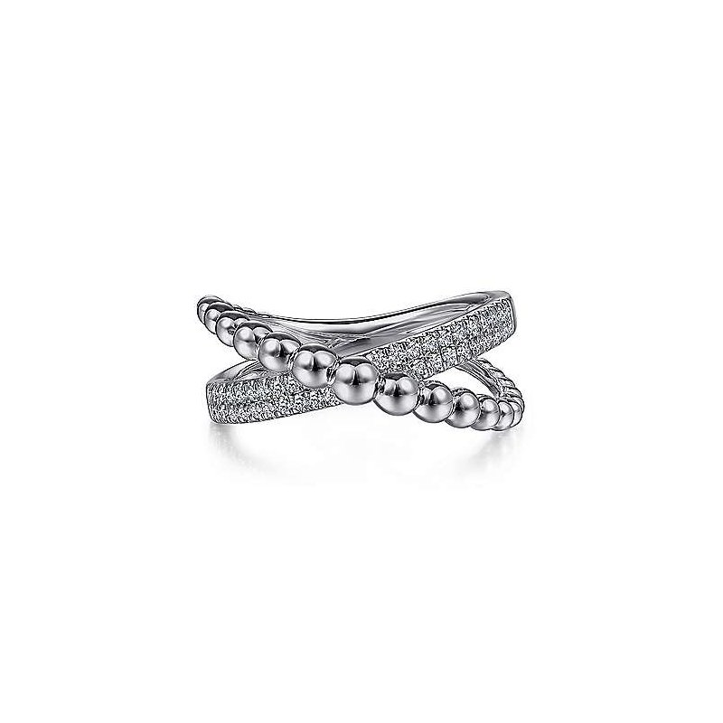 Gabriel NY Fine Jewelry Sapphire Bujukan Criss-Cross Ring